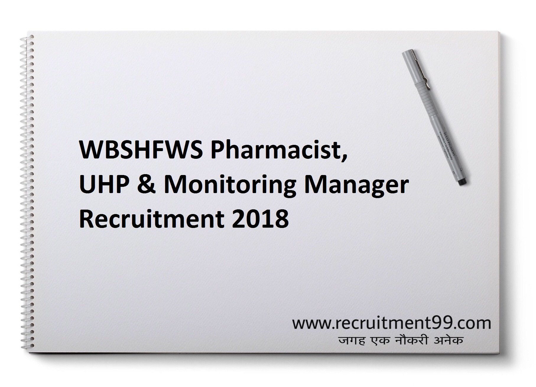 WBSHFWS Pharmacist, UHP & Monitoring Manager Recruitment Admit Card Result 2018