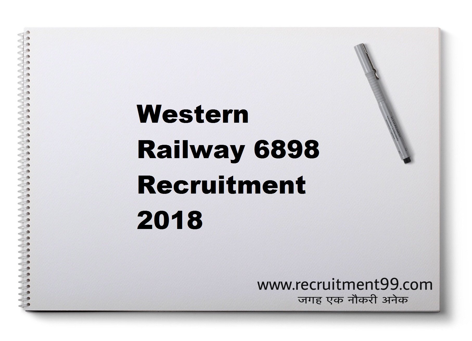 Western Railway 6898 Recruitment Admit Card Interview Result 2018