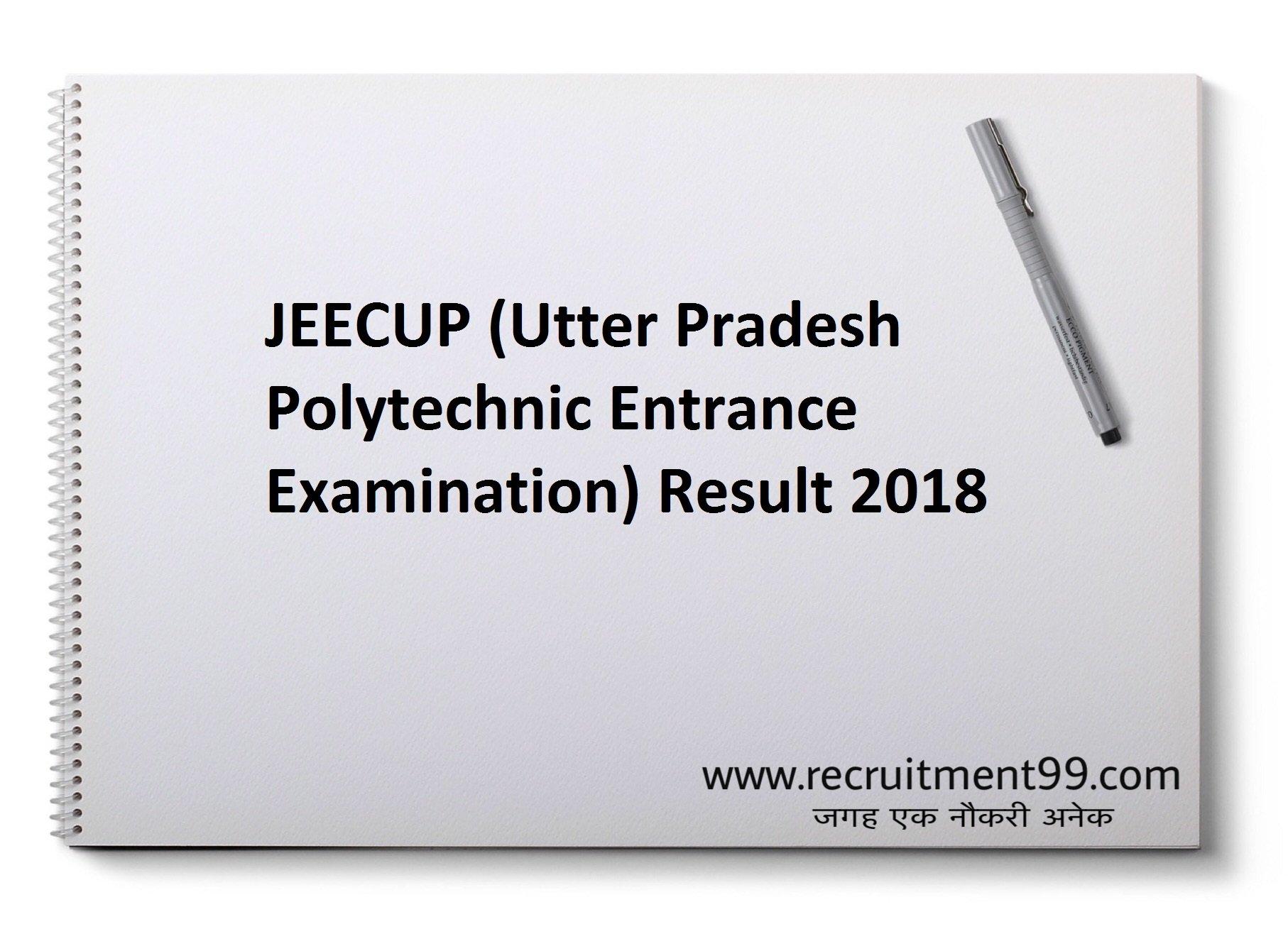 JEECUP Admission Admit Card Result 2018