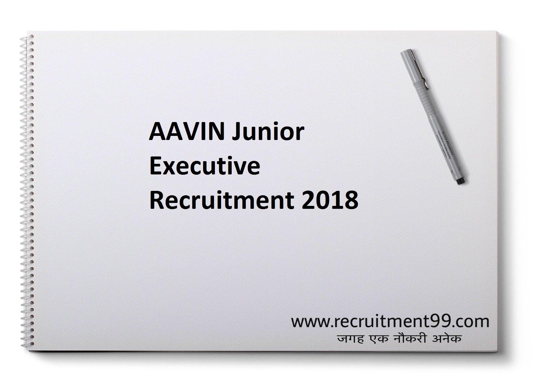 AAVIN Junior Executive Recruitment Admit Card Result 2018