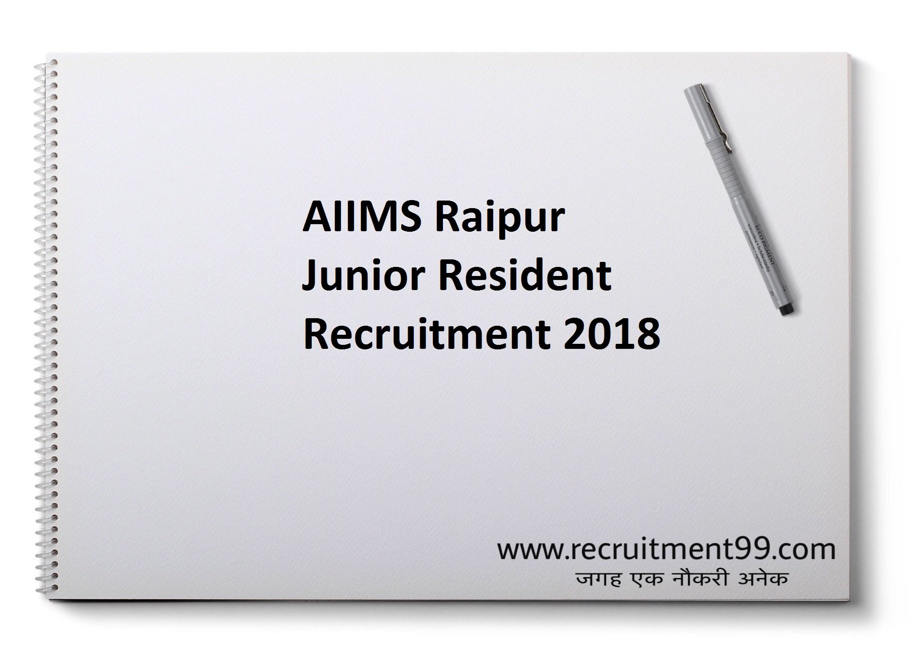 AIIMS Raipur Junior Resident Recruitment Admit Card Result 2018