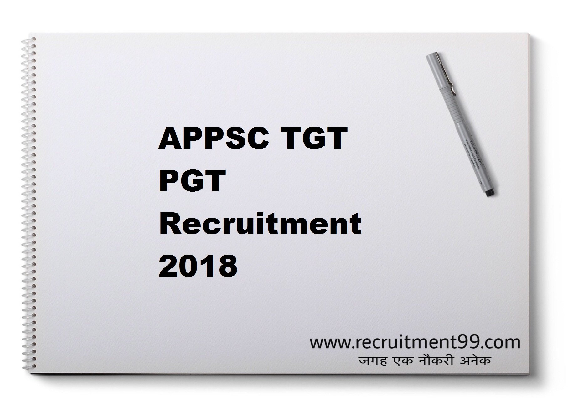 APPSC TGT PGT Recruitment Admit Card Result 2018