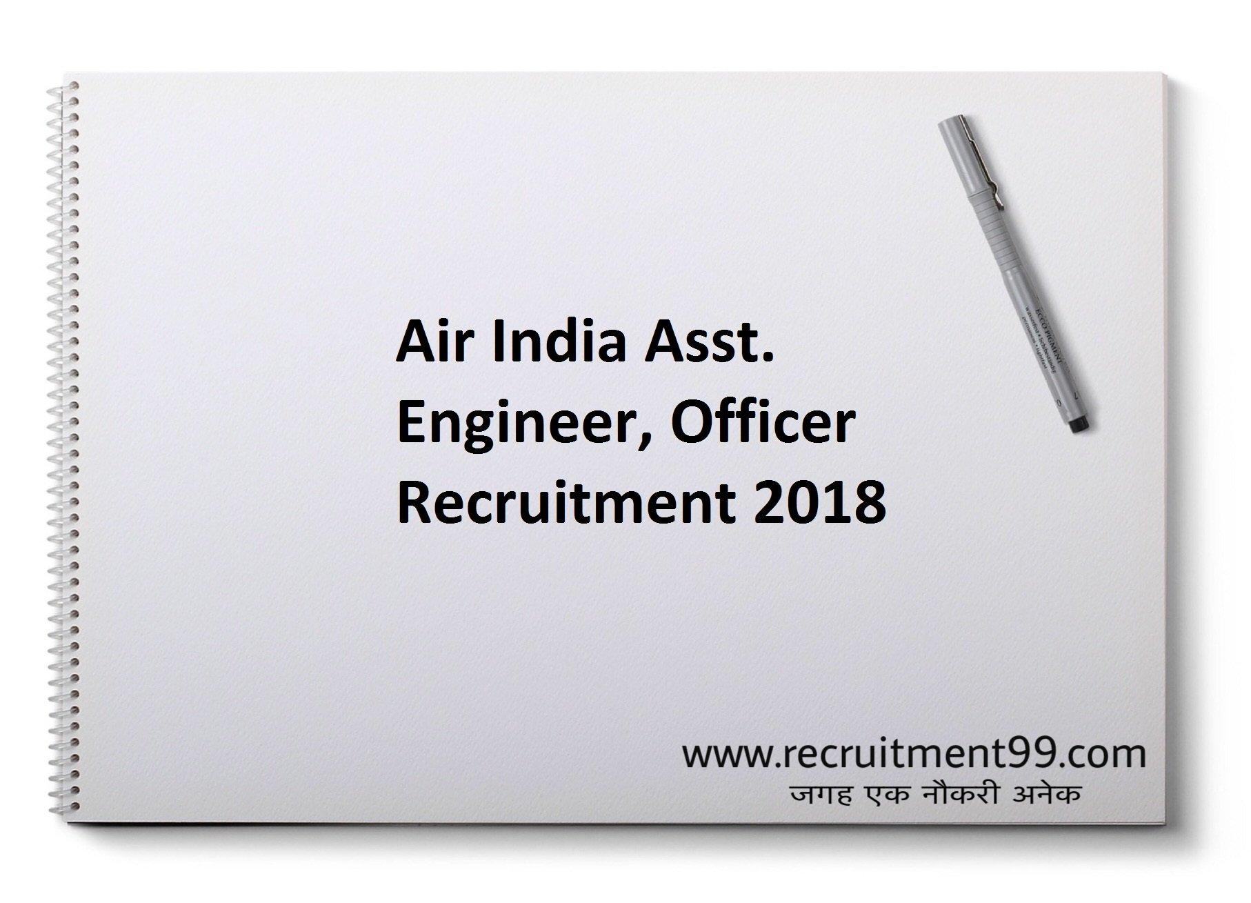 Air India Asst. Engineer Officer Recruitment Admit Card Result 2018