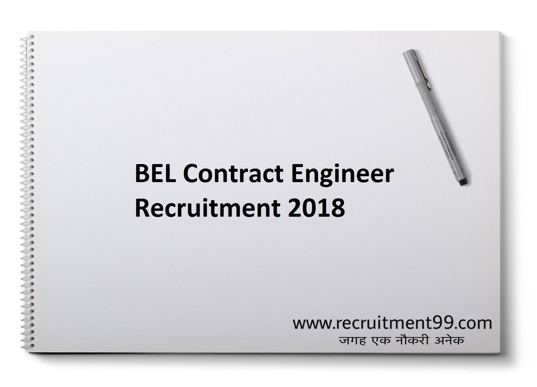 BEL Contract Engineer Recruitment Admit Card Result 2018