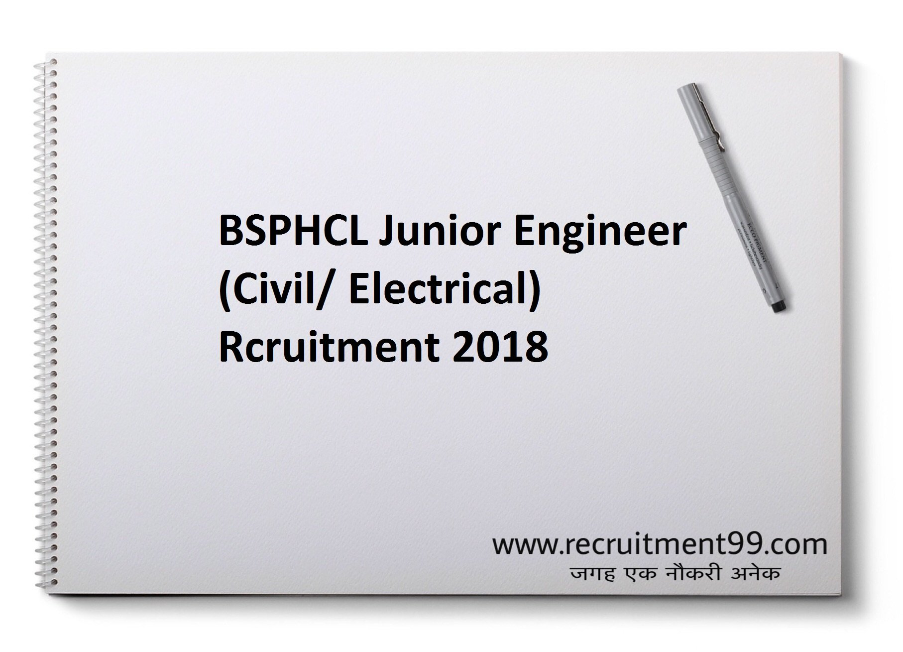 BSPHCL Junior Engineer JE Recruitment Admit Card Result 2018