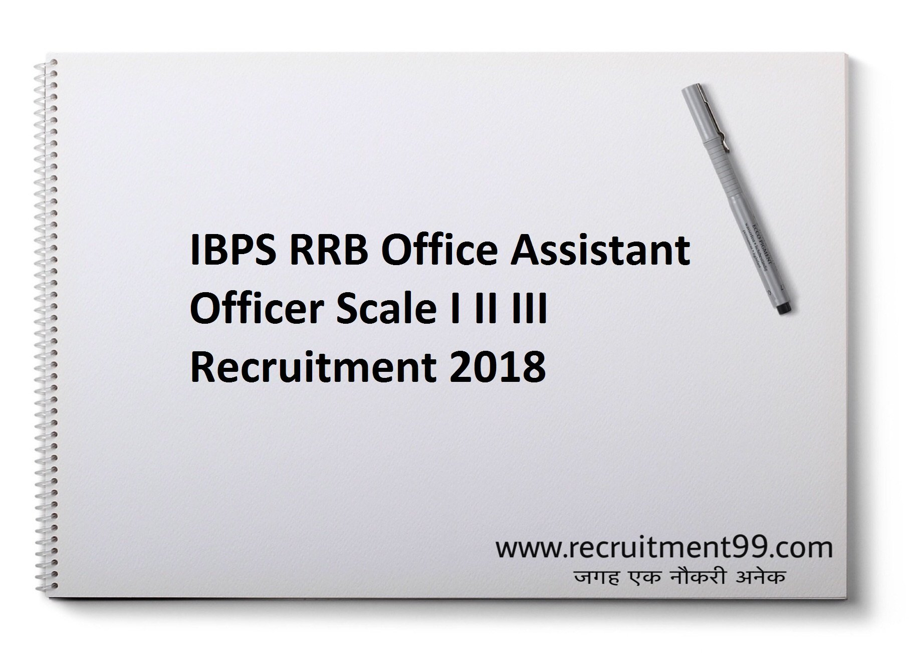 IBPS RRB Office Assistant Officer Scale I II III Recruitment Admit Card Result 2018