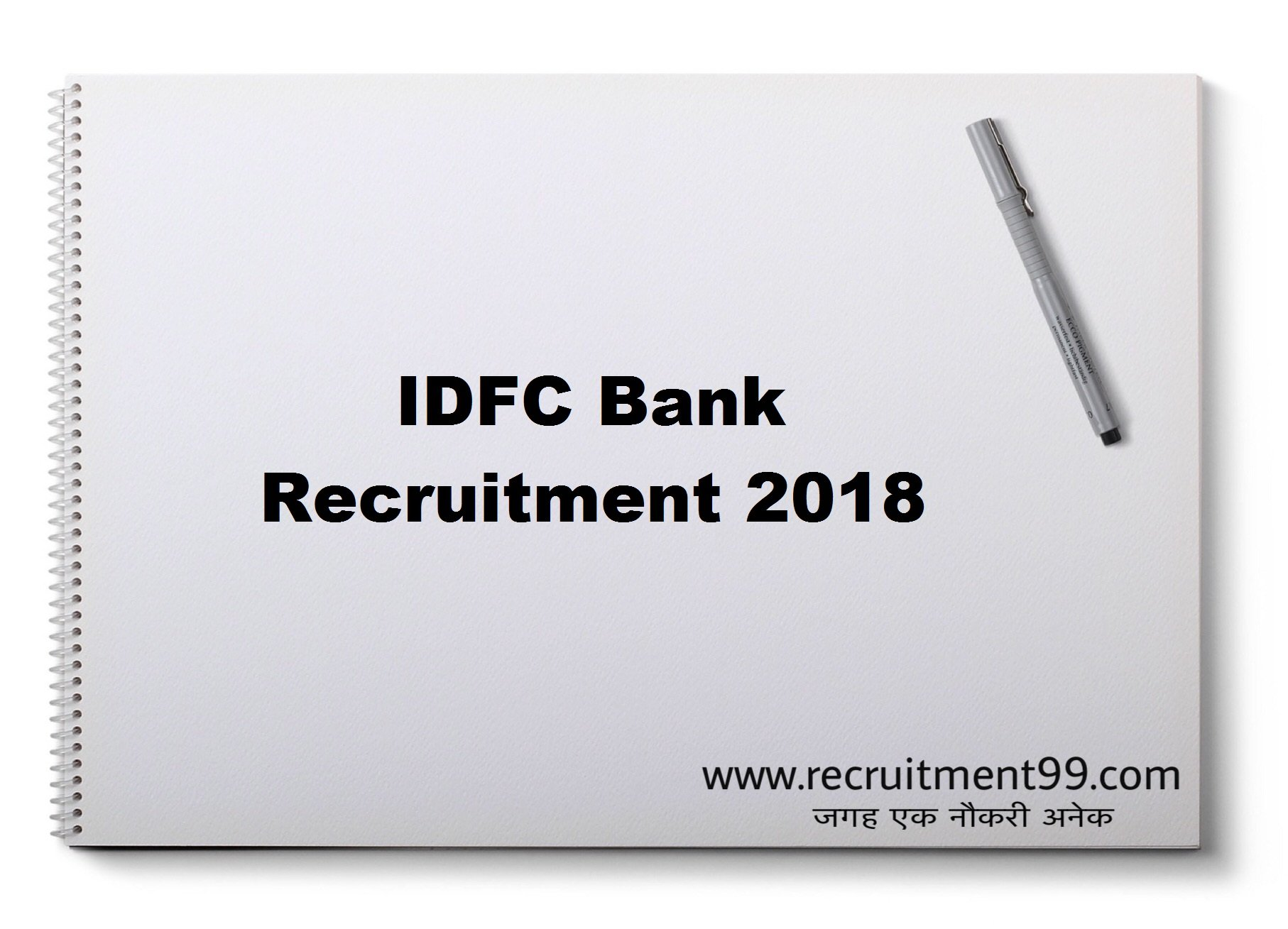 IDFC Bank Sales Officers Recruitment Admit Card Result 2018