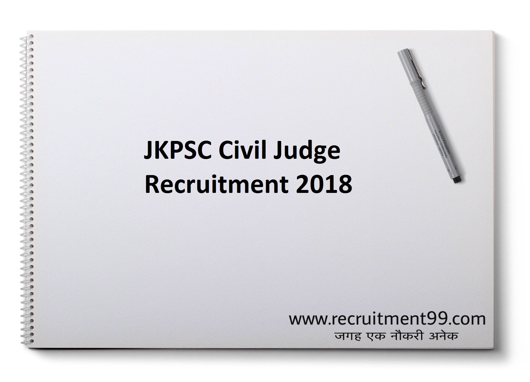 JKPSC Civil Judge Recruitment Admit Card Result 2018