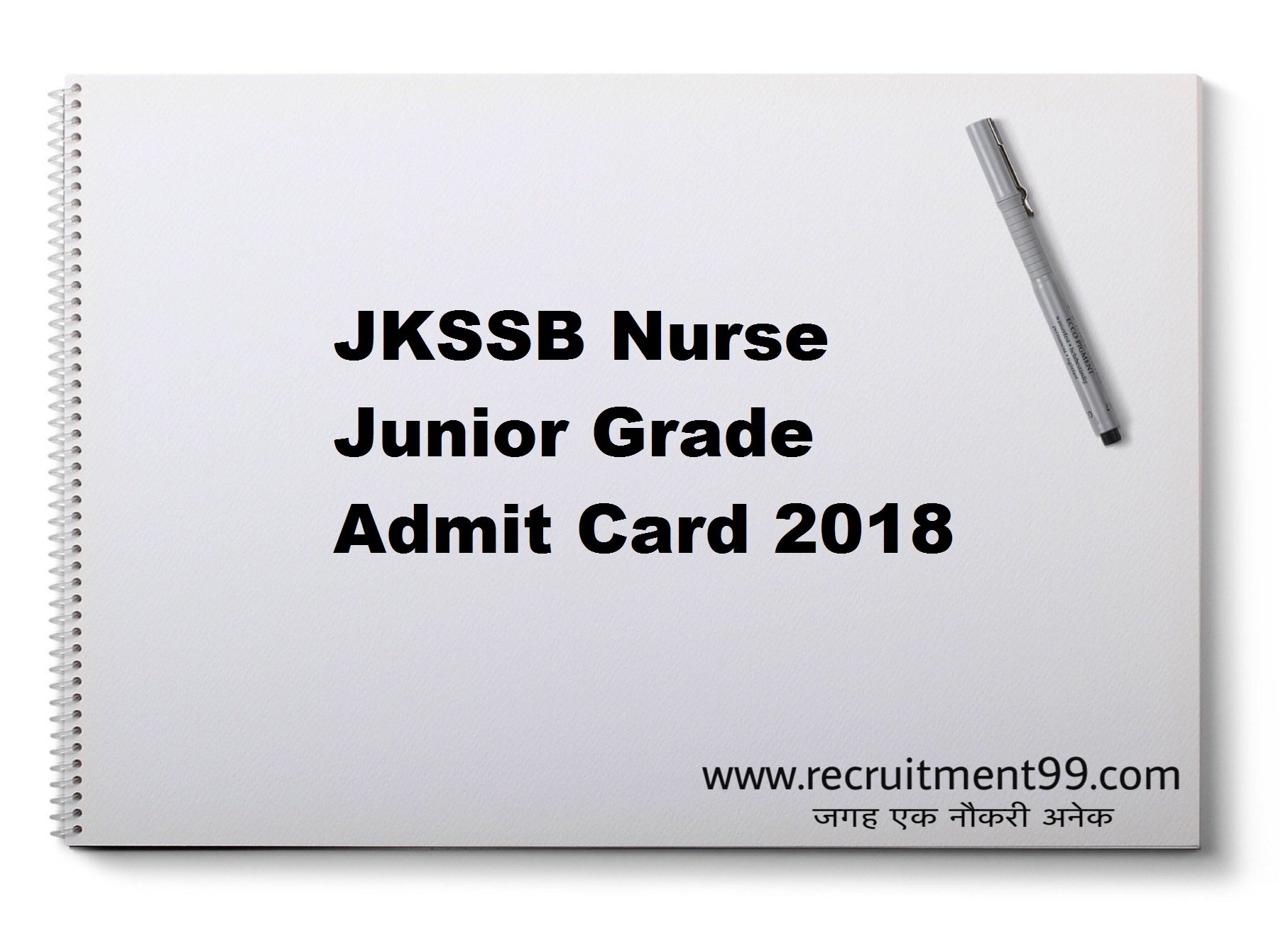 JKSSB Nurse Junior Grade Recruitment Admit Card Result 2018
