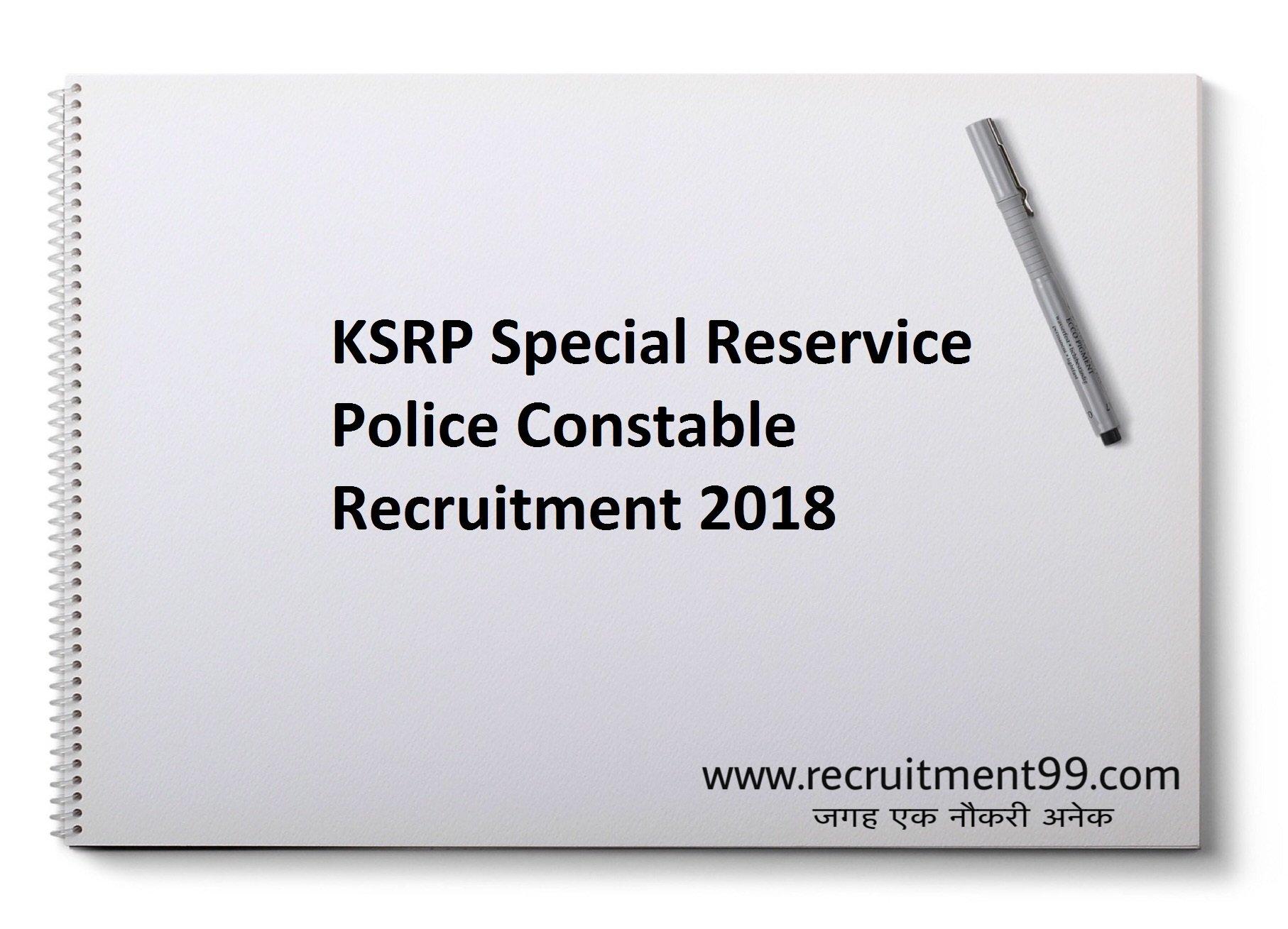 KSP Constable Recruitment Hall Ticket Result 2018