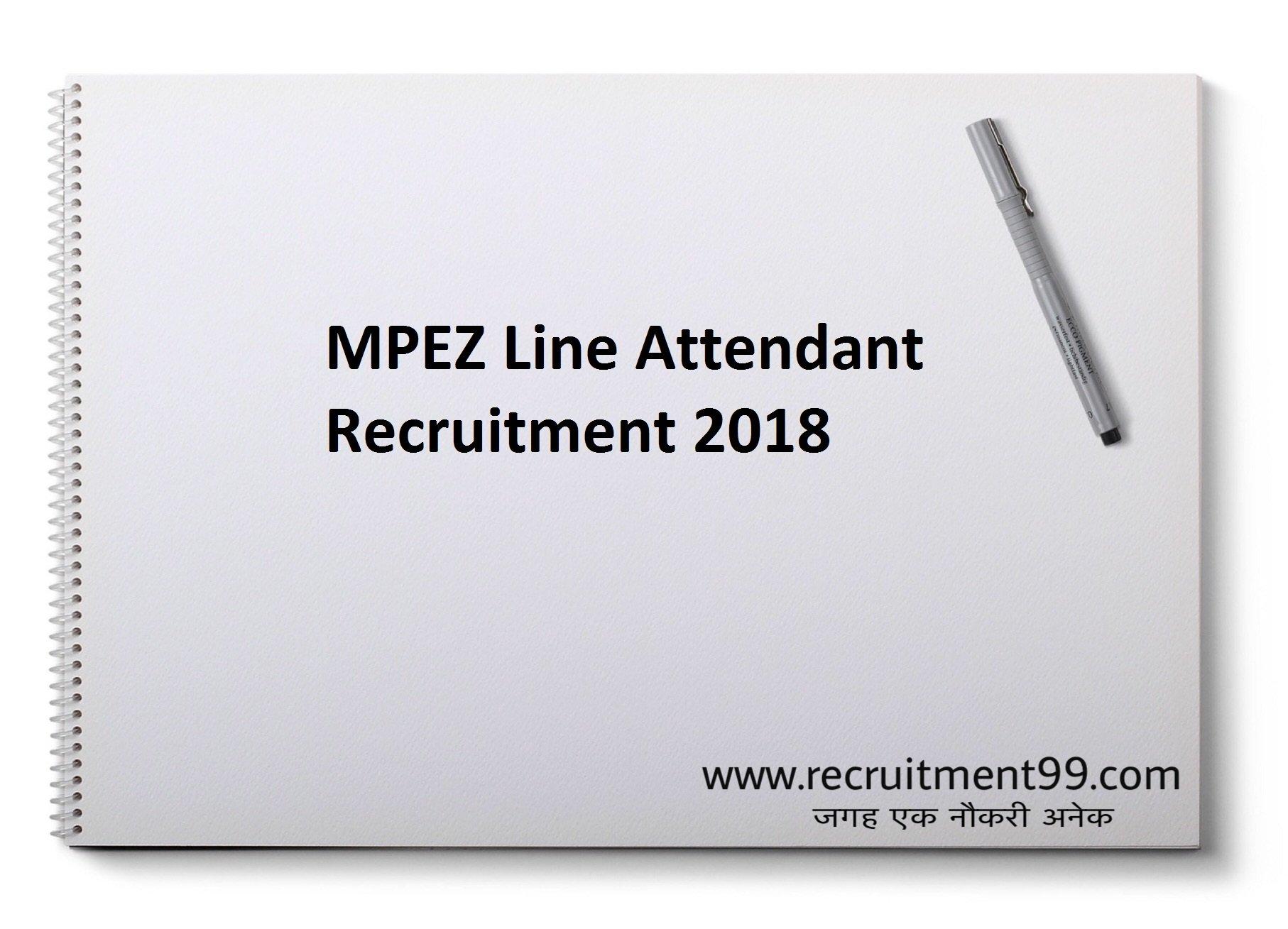 MPEZ Line Attendant Recruitment Admit Card Result 2018