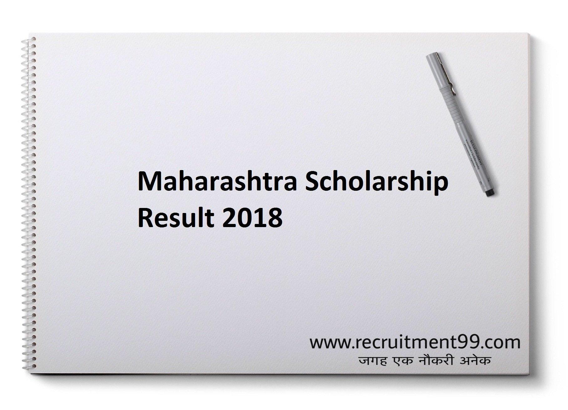Maharashtra Scholarship 5th 8th Class Cut off Merit List 2019