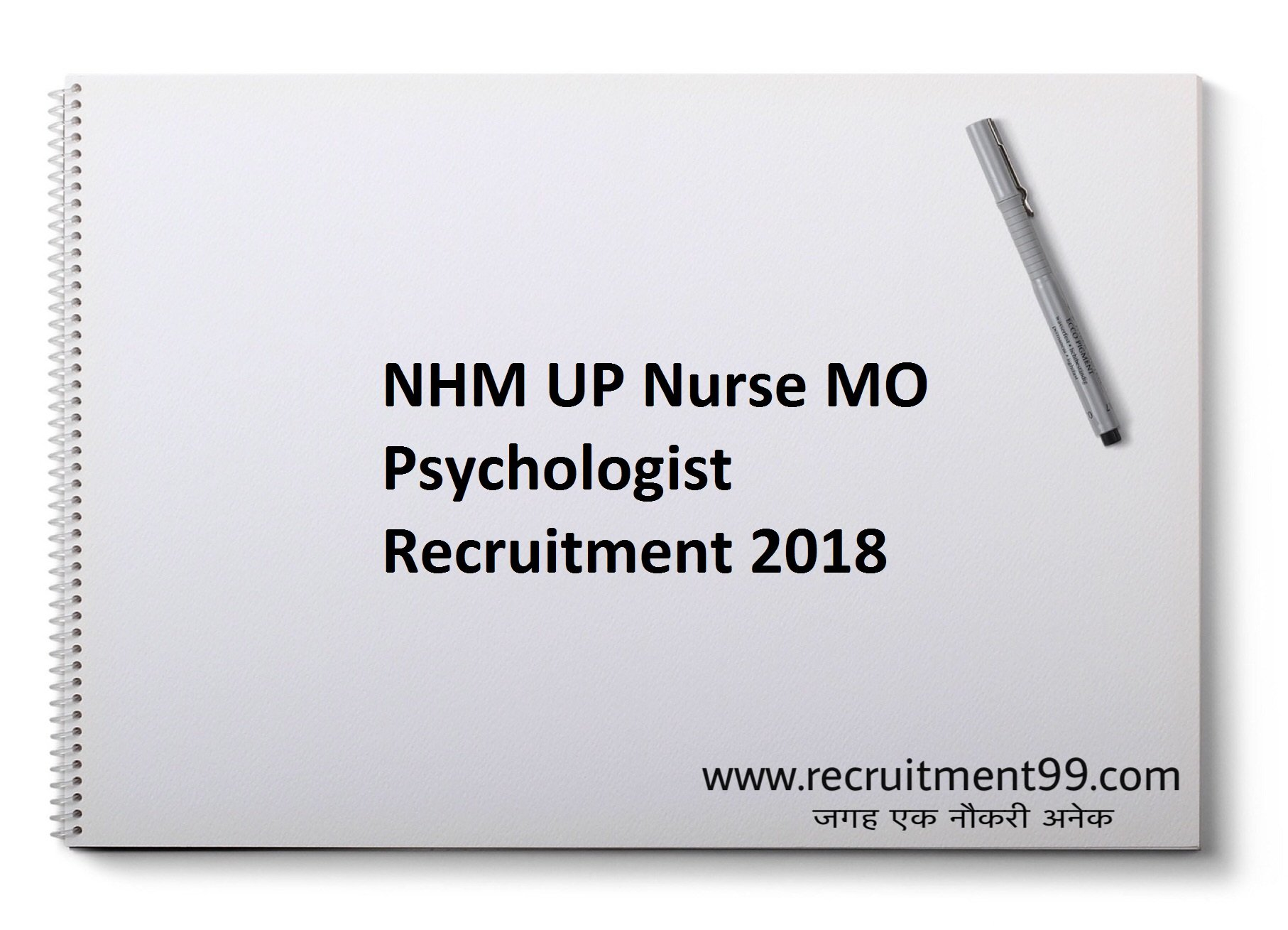NHM UP Nurse Worker MO Psychologist Recruitment Admit Card Result 2018