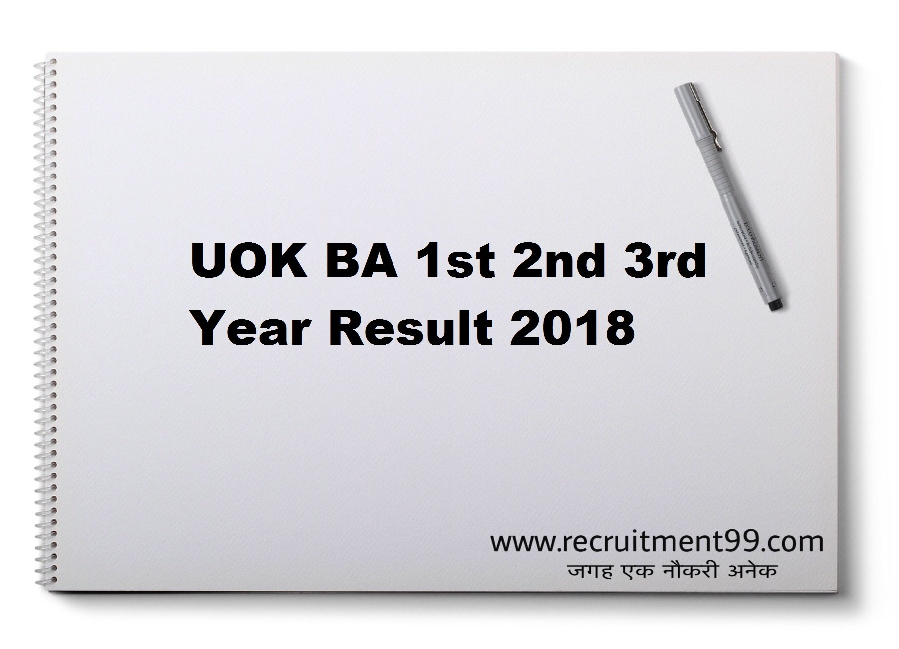 UOK BA 1st 2nd 3rd Year Result 2018