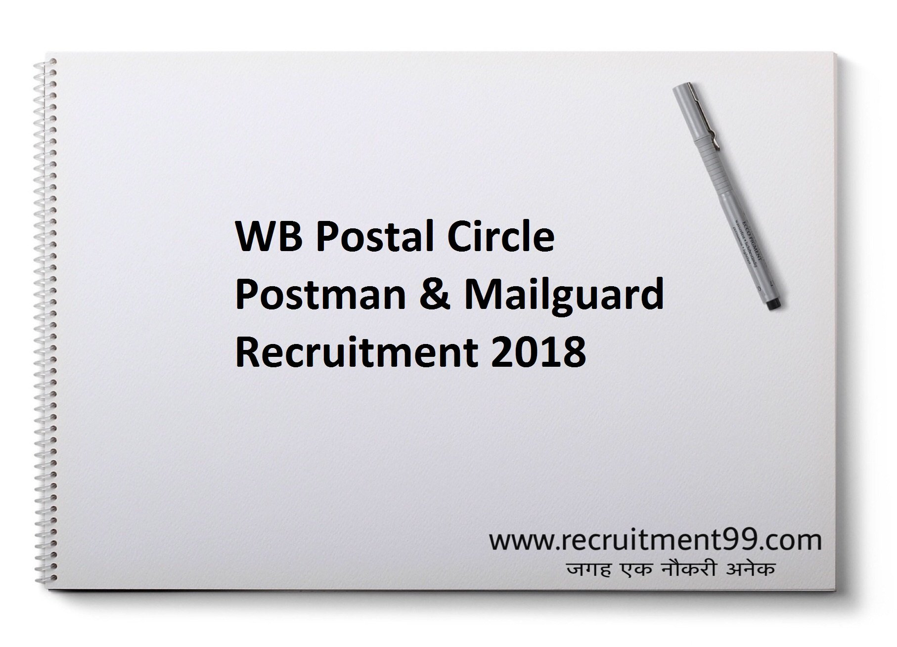WB Postal Circle Postman Mailguard Recruitment Admit Card Result 2018