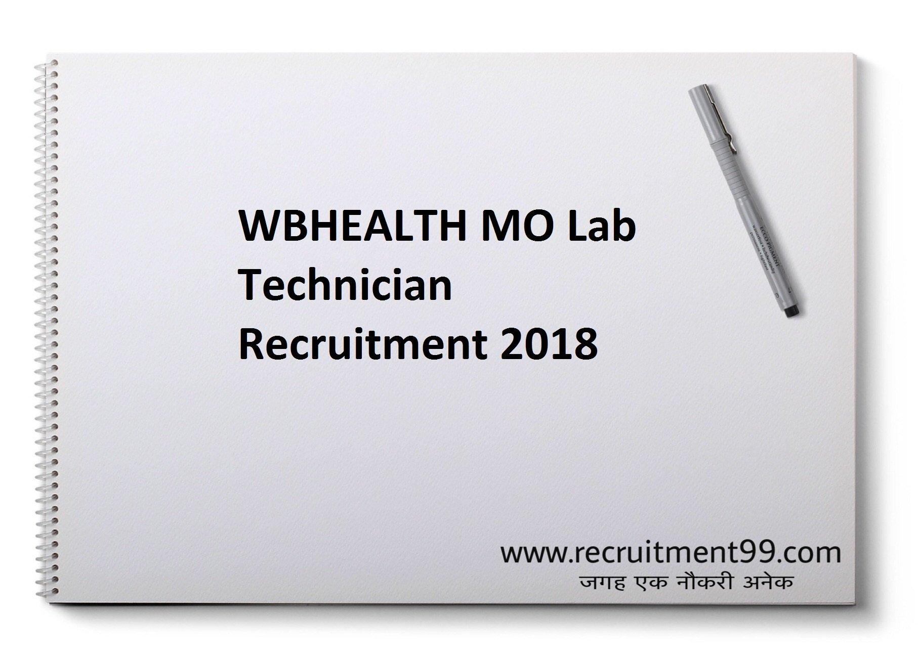 WBHEALTH MO Lab Technician Recruitment Admit Card Result 2018