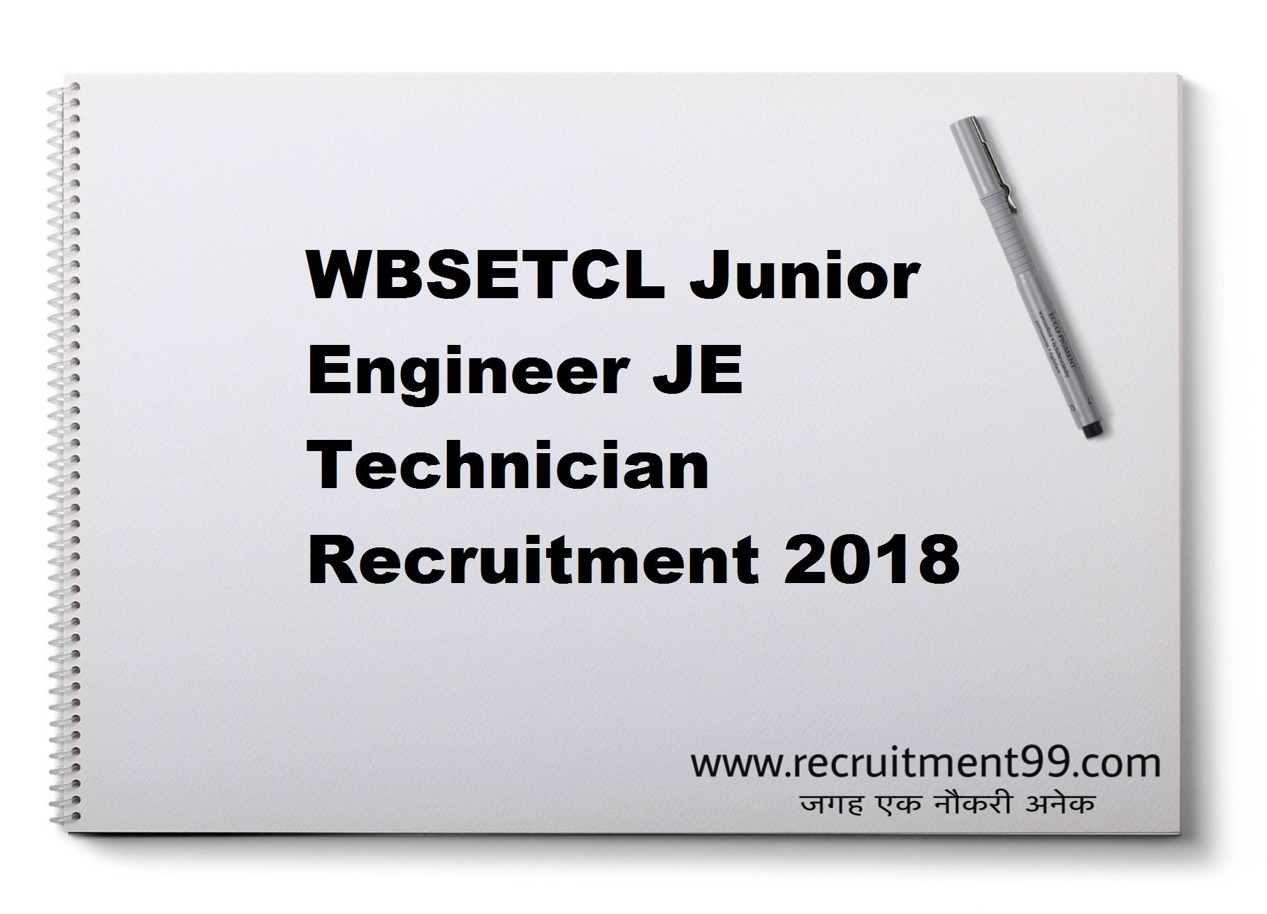 WBSETCL Junior Engineer JE Technician Recruitment Admit Card Result 2018