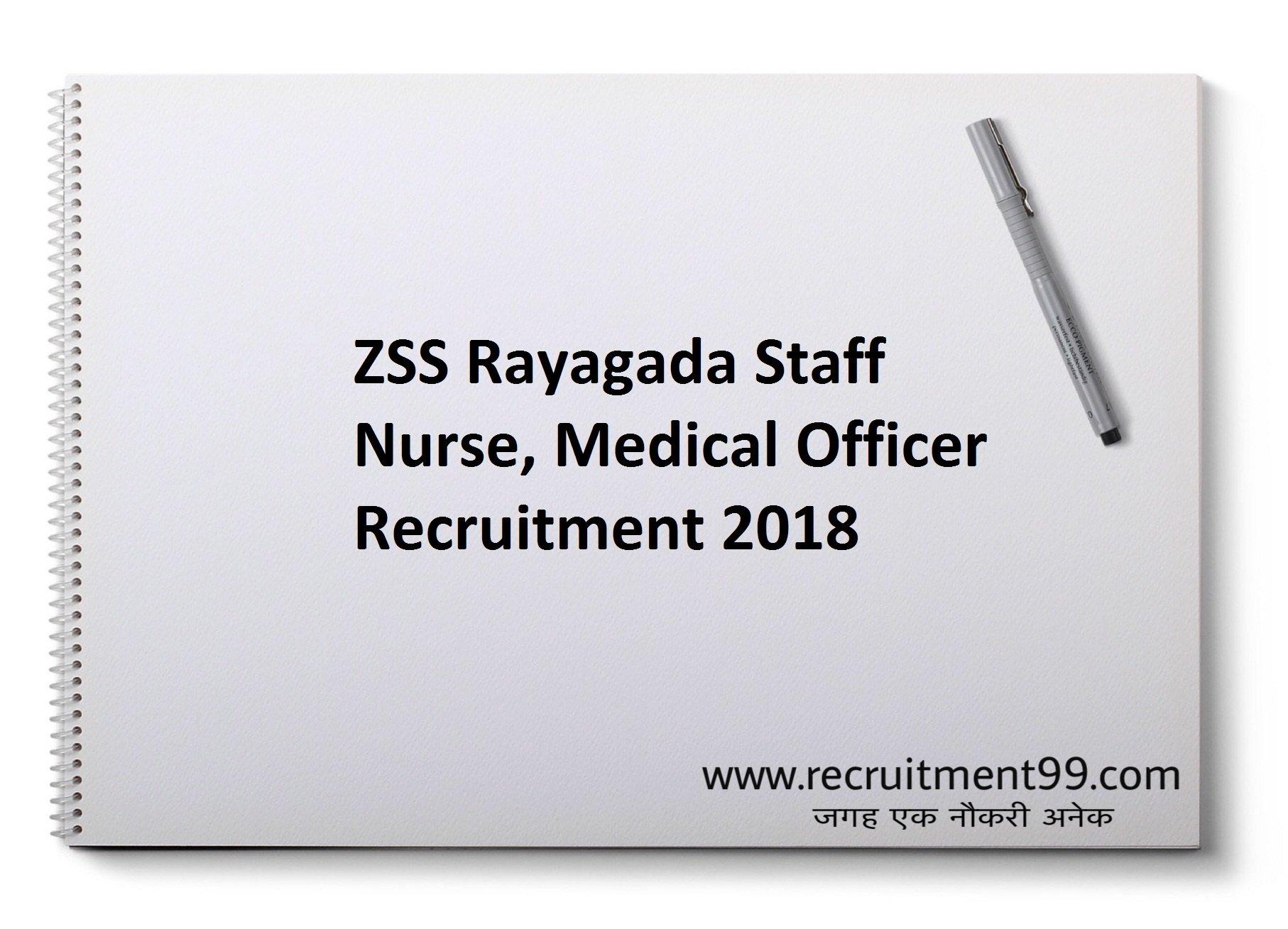 ZSS Rayagada Staff Nurse Medical Officer Recruitment Admit Card Result 2018