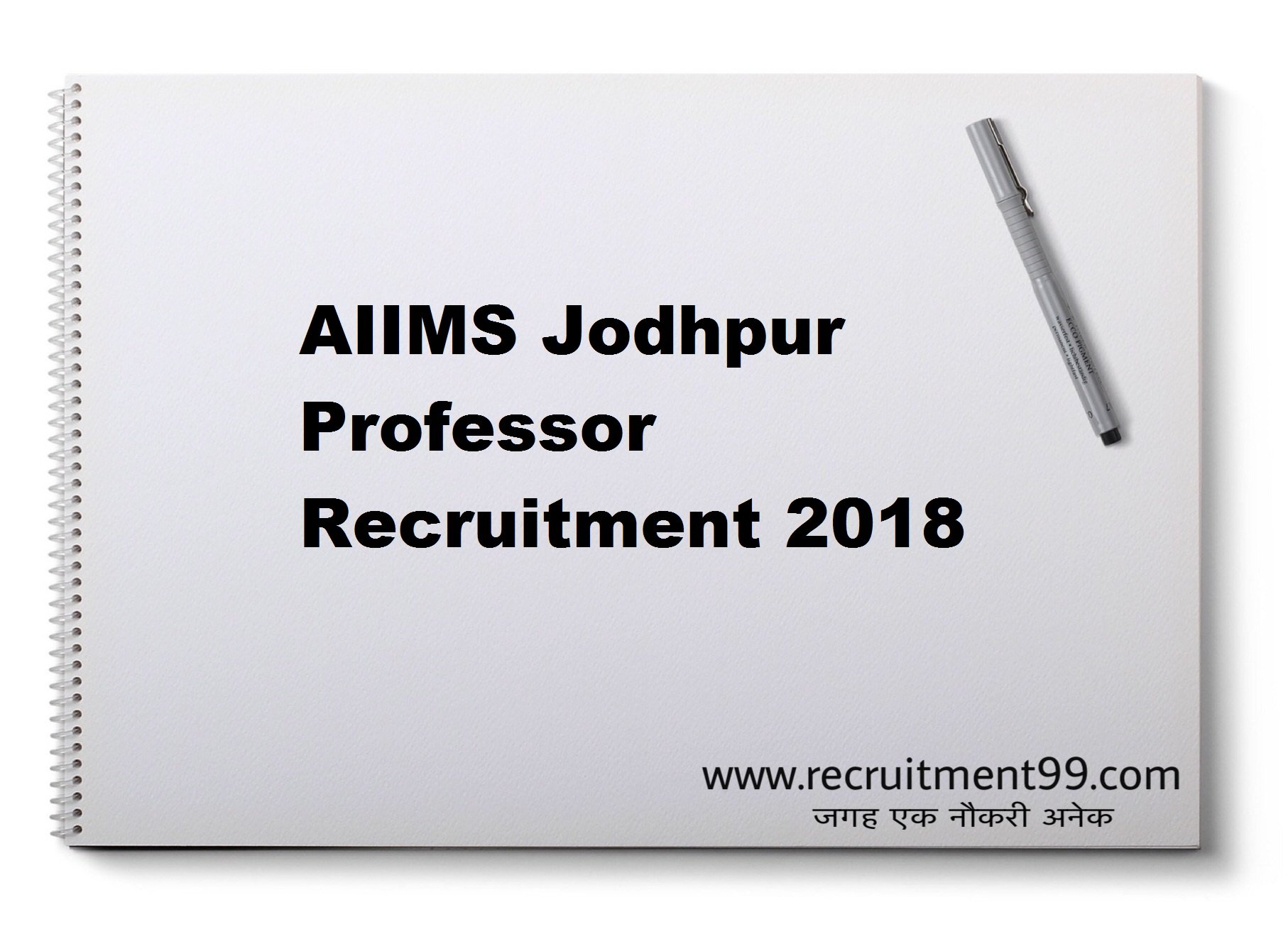 AIIMS Jodhpur Professor Recruitment Admit Card Result 2018