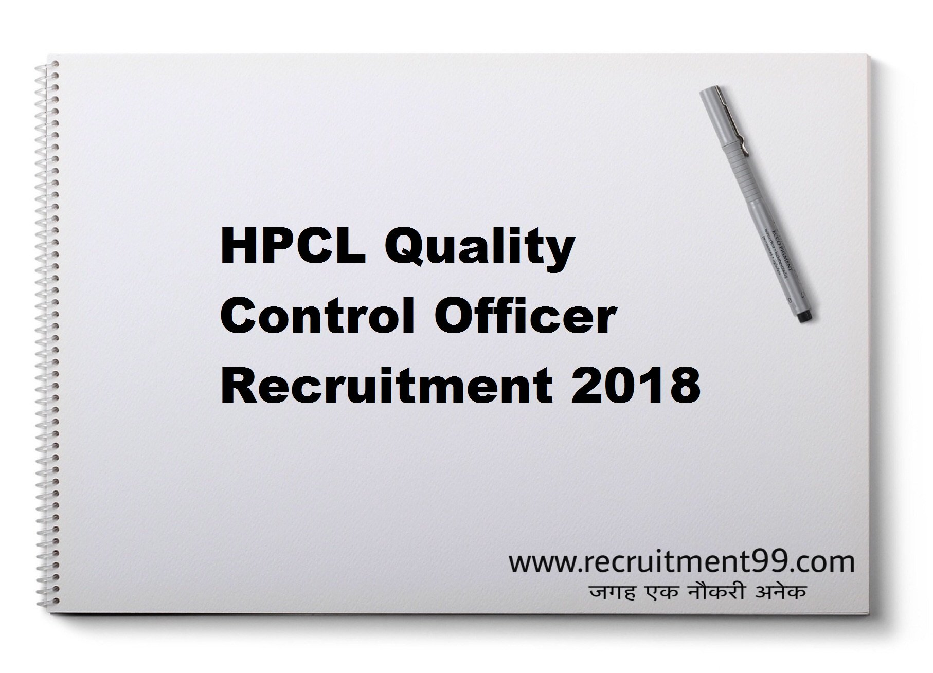 HPCL Quality Control Officer Recruitment Admit Card Result 2018