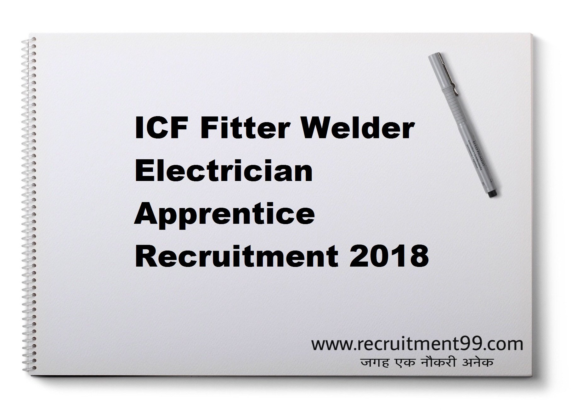 ICF Fitter Welder Electrician Apprentice Recruitment Admit Card Result 2018