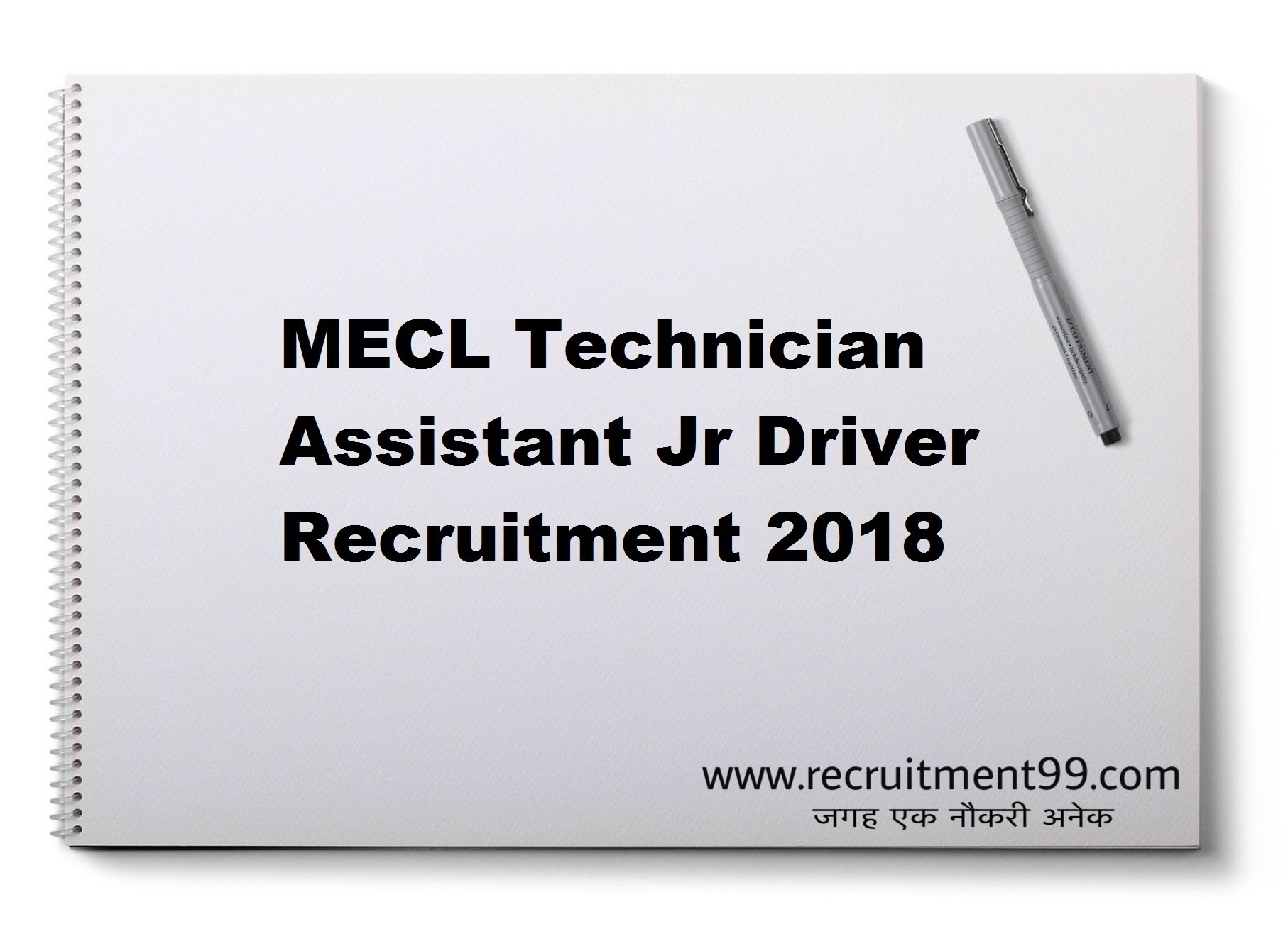 MECL Technician Assistant Jr Driver Recruitment Admit Card Result 2018