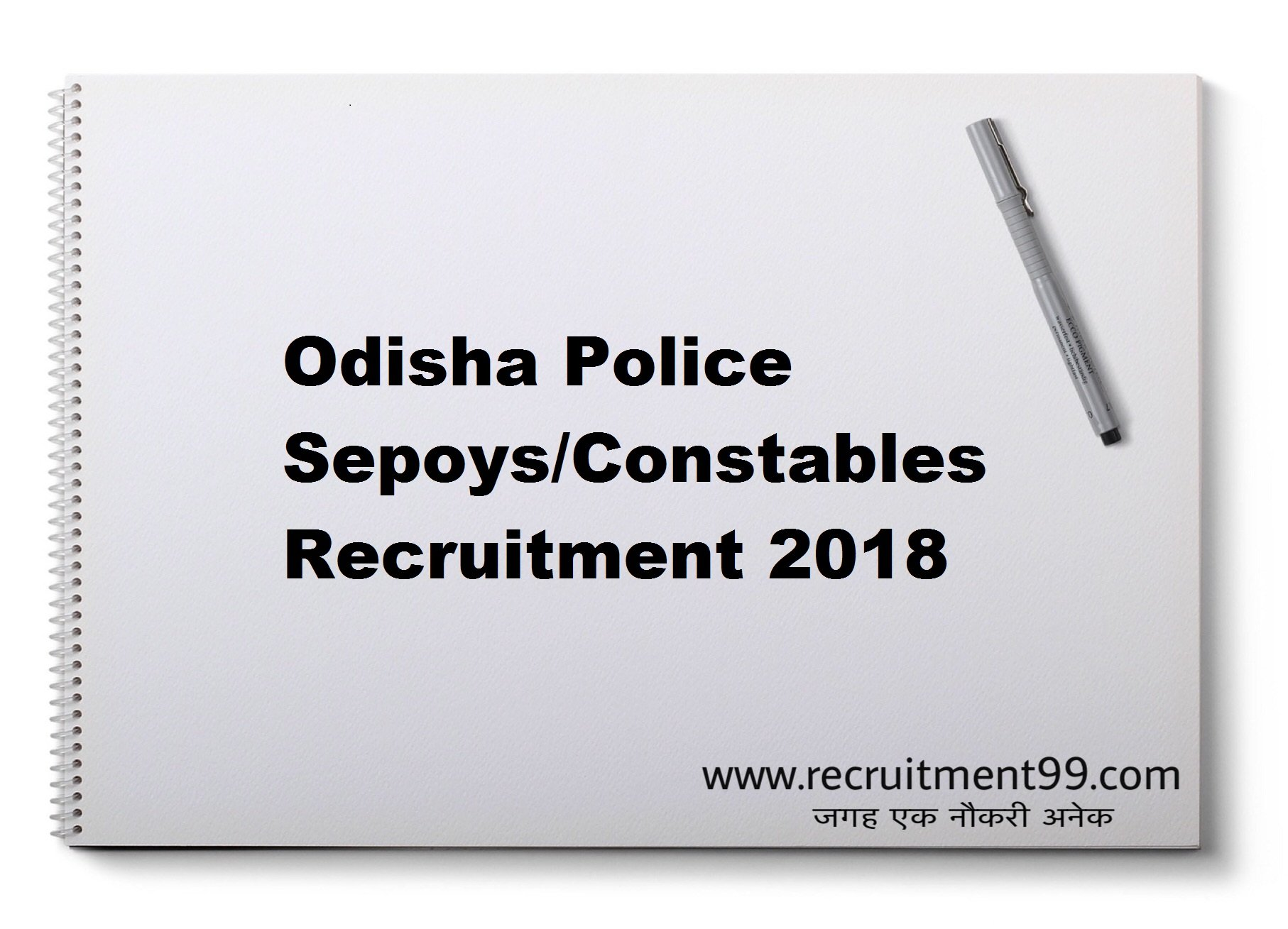Odisha Police Sepoys/Constables Recruitment Hall Ticket Result 2018