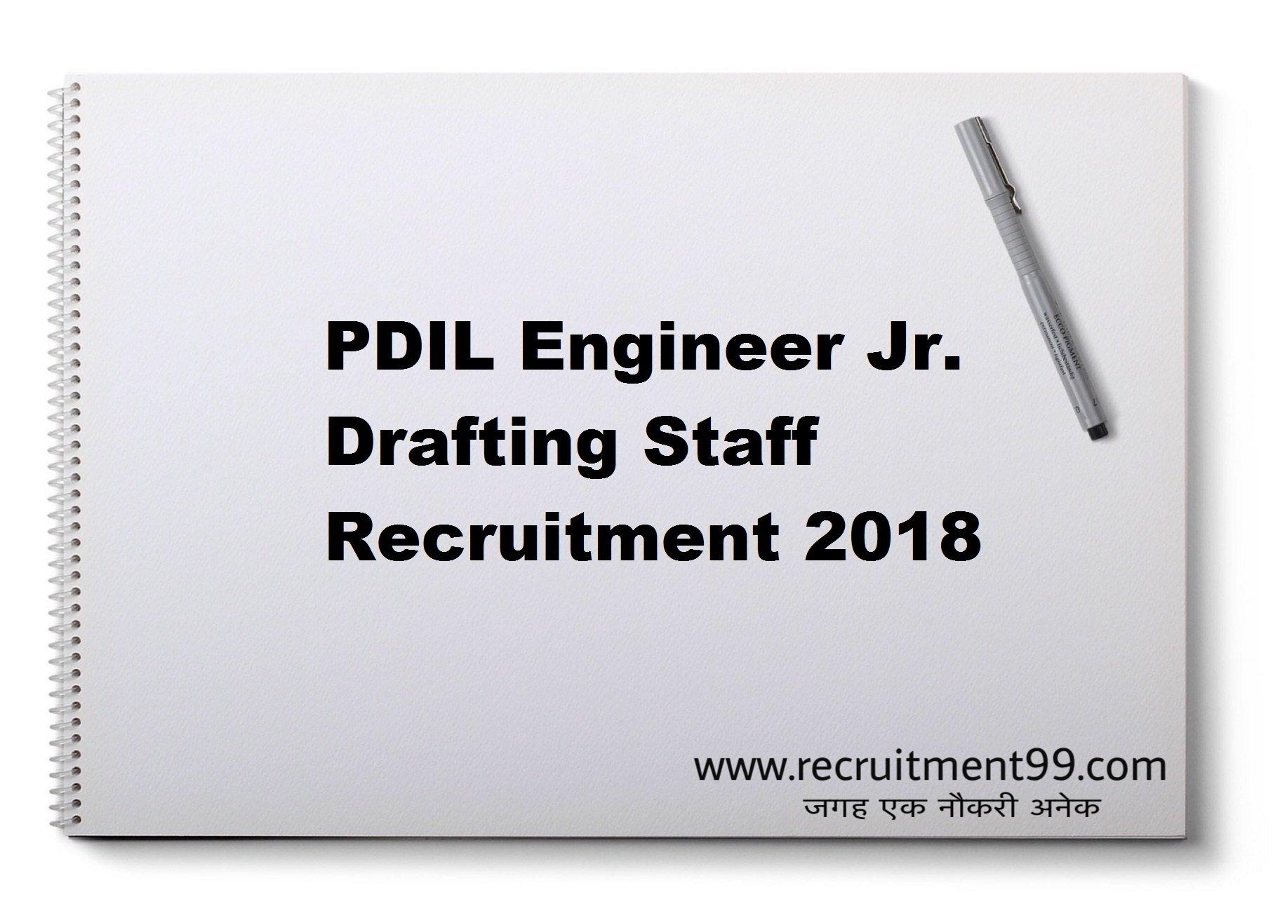 PDIL Engineer Jr. Drafting Staff Recruitment Admit Card Result 2018