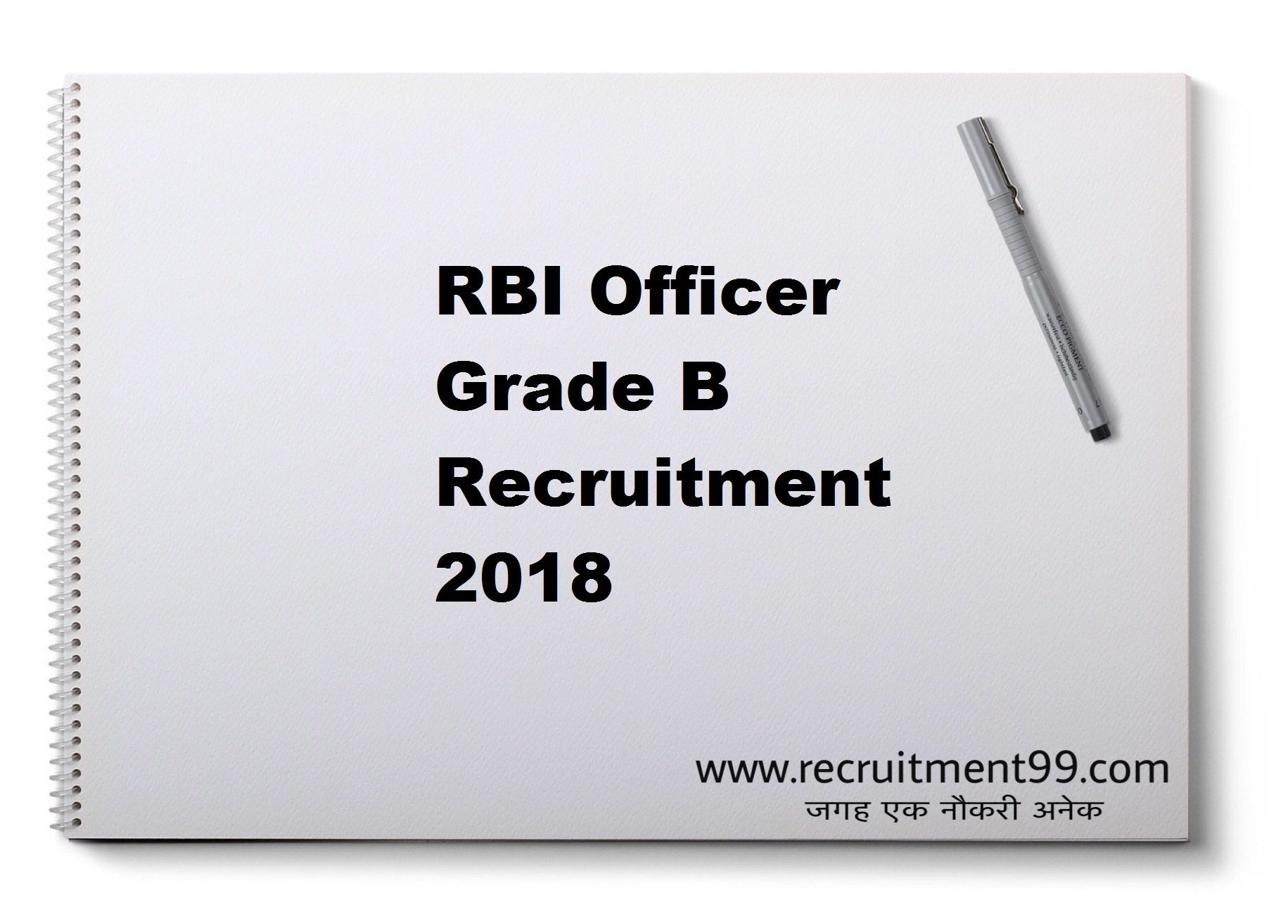 RBI Officer Grade B Recruitment Admit Card Result 2018