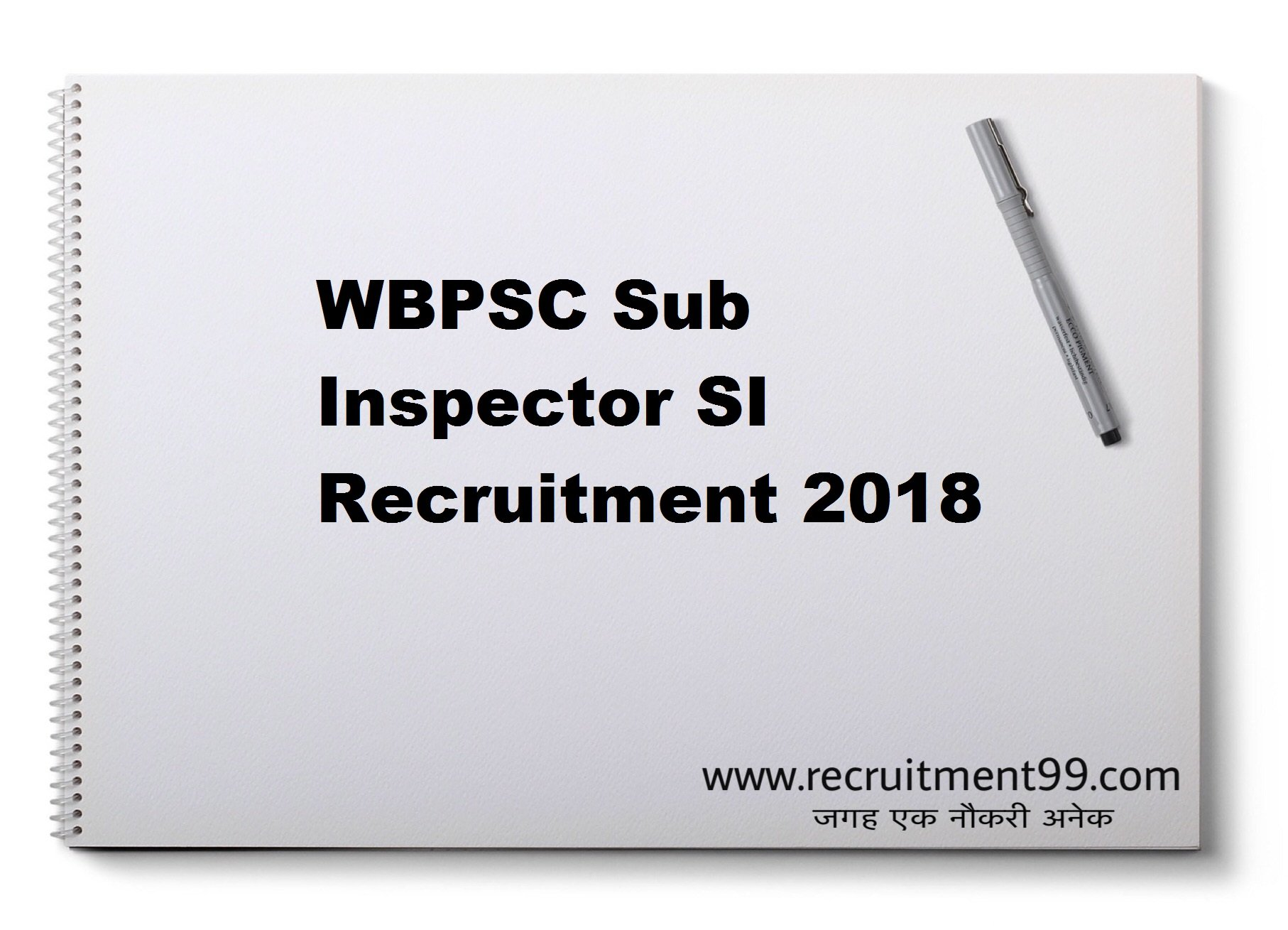 WBPSC Sub Inspector SI Recruitment Admit Card Result 2018