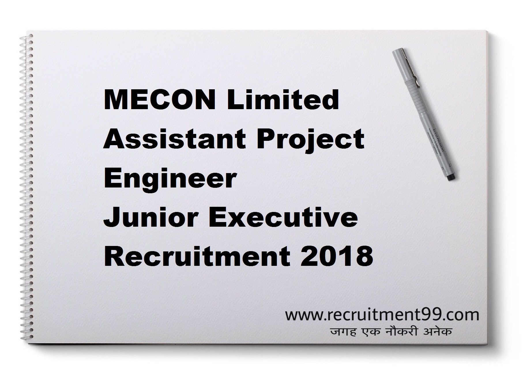 MECON Limited Assistant Project Engineer Junior Executive Recruitment Admit Card Result 2018