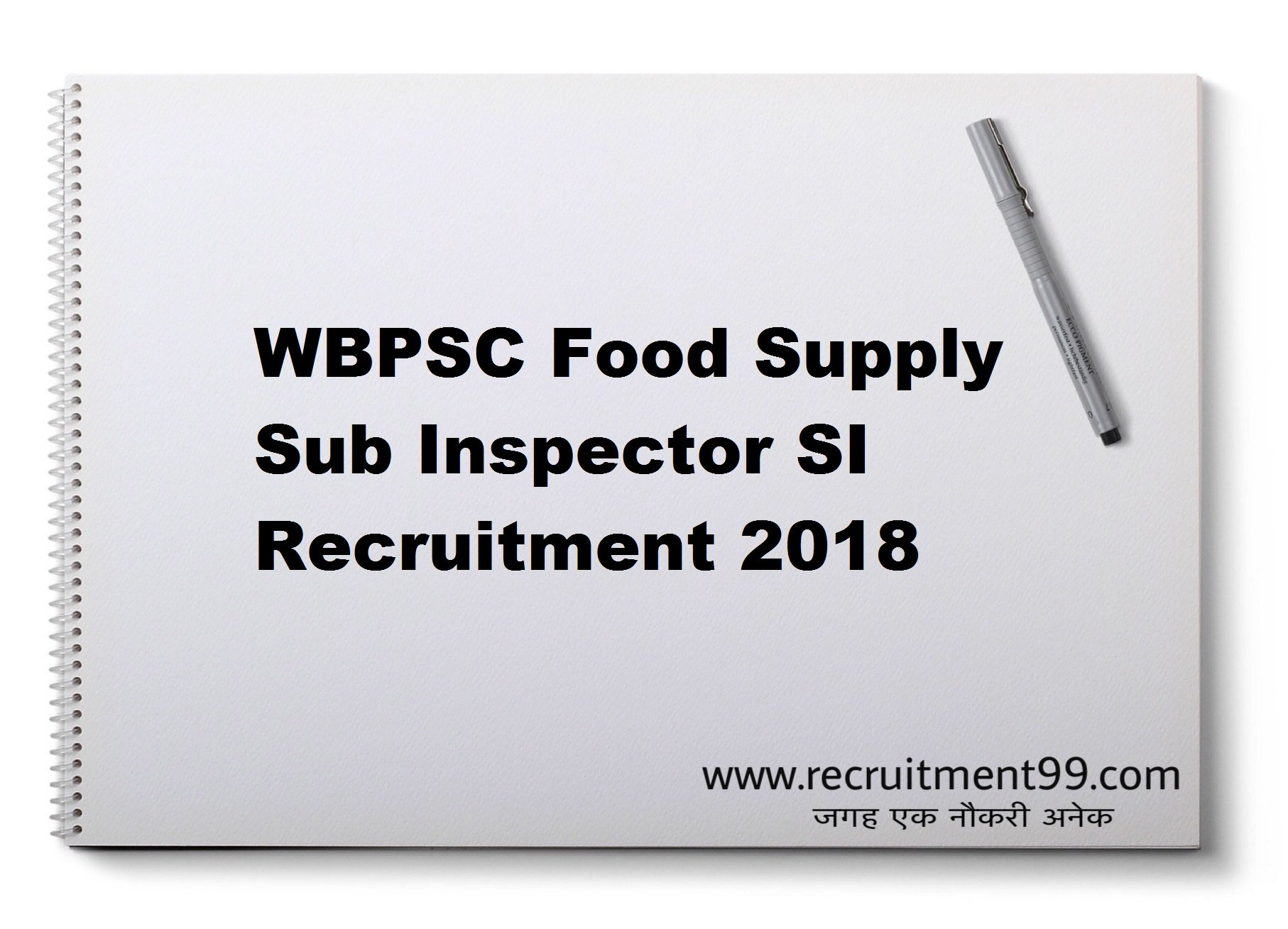 WBPSC Food Supply Sub Inspector SI Recruitment Admit Card Result 2018