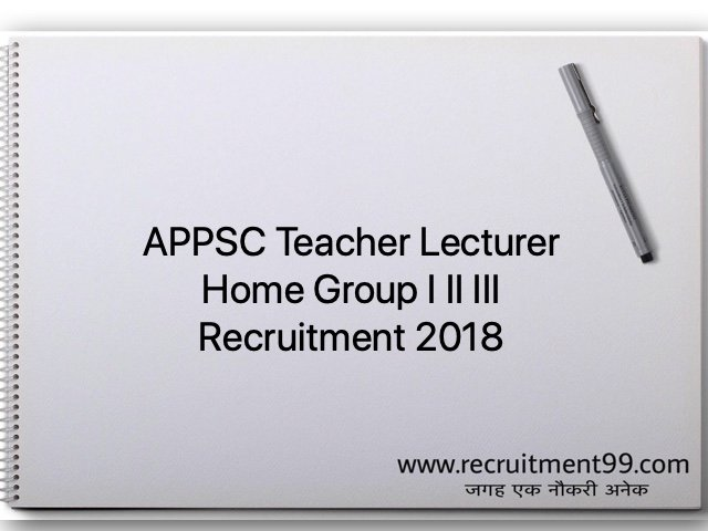 APPSC Teacher Lecturer Home Group I II III Recruitment 2018