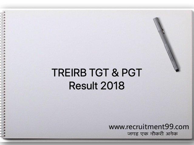 TREIRB TGT & PGT Result 2018