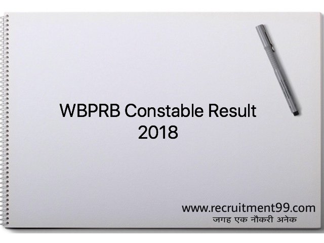 WBPRB Constable Result 2018