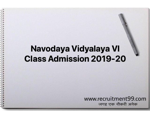 Navodaya Vidyalaya VI Class Admission 2019-20