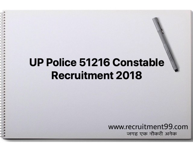 UP Police 51216 Constable Recruitment 2018