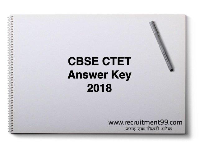 CBSE CTET Answer Key 2018