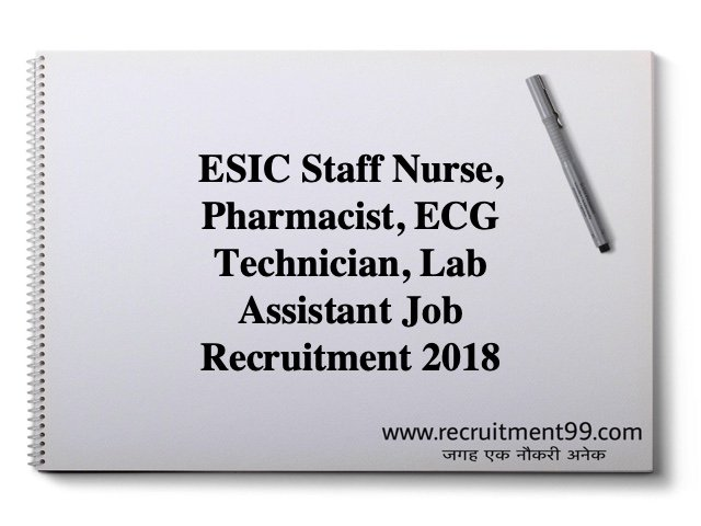 ESIC Job Recruitment 2018