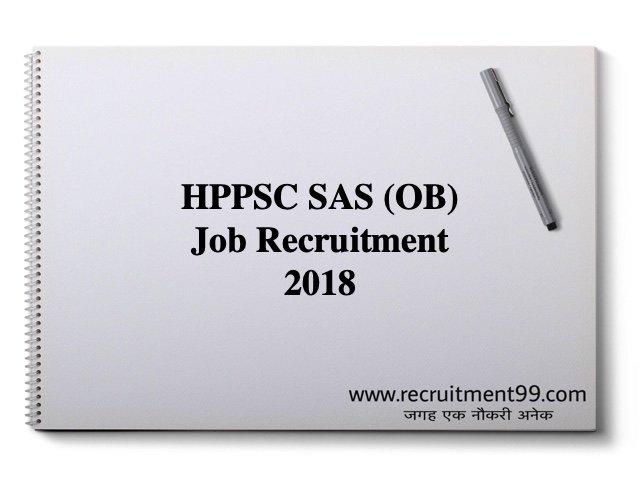 HPPSC Job Recruitment 2018