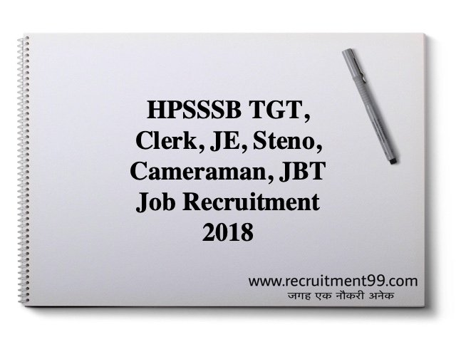 HPSSSB Jobs Recruitment 2018