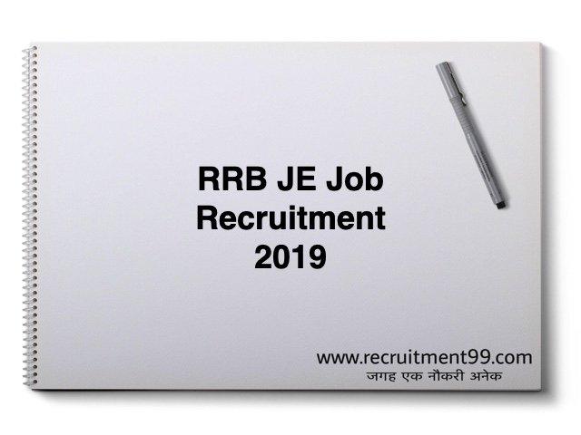 RRB JE Job Recruitment 2019