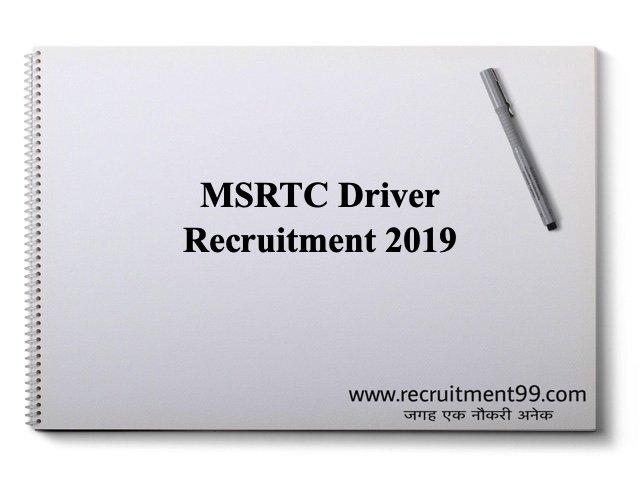 MSRTC Driver Recruitment 2019
