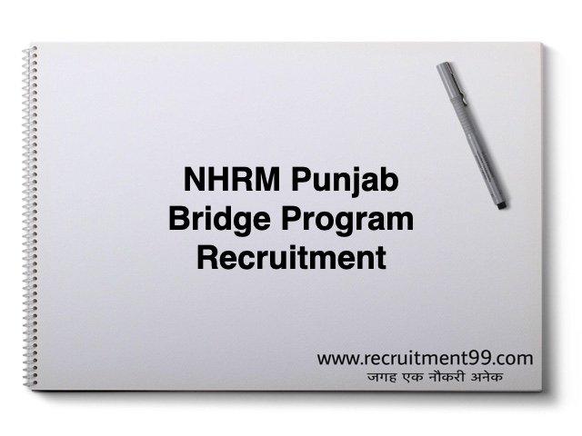 NHRM Punjab Bridge Program Recruitment 2019